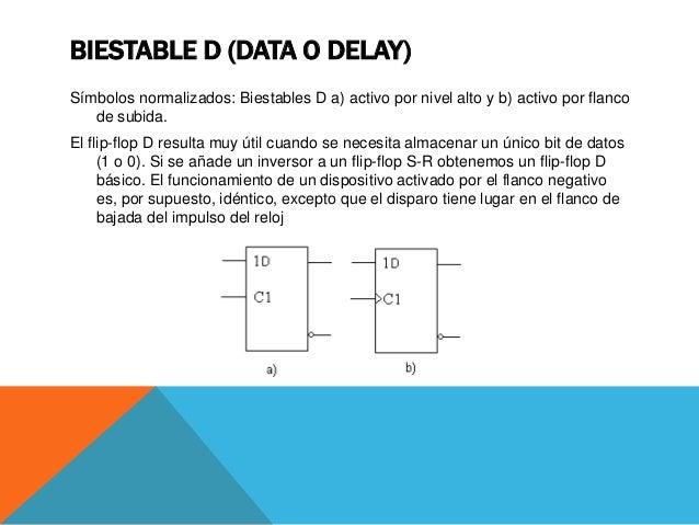 BIESTABLE T (TOGGLE) Símbolo normalizado: Biestable T activo por flanco de subida. Dispositivo de almacenamiento temporal ...