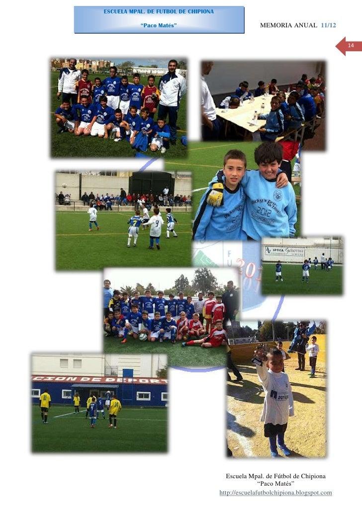 Memoria anual escuela mpal de f tbol de chipiona 12 for Memoria anual