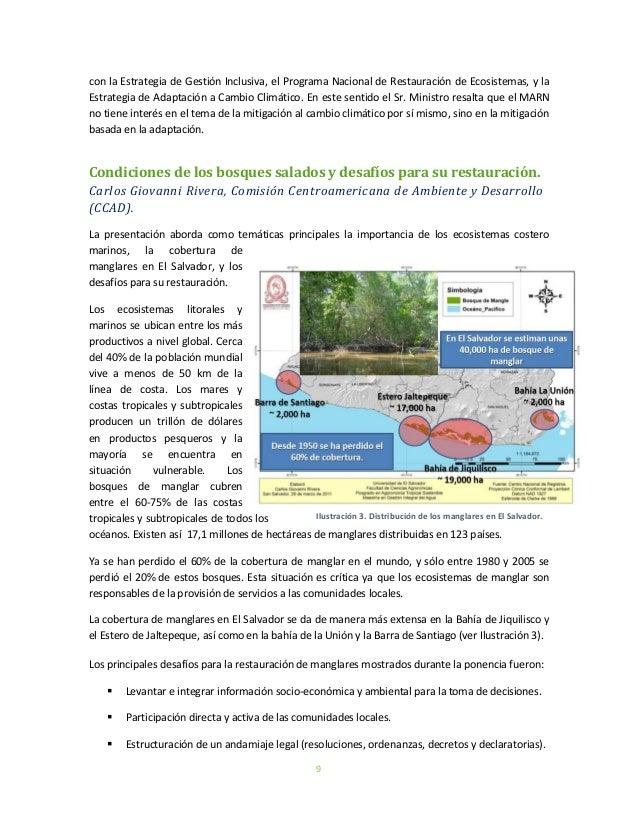 9con la Estrategia de Gestión Inclusiva, el Programa Nacional de Restauración de Ecosistemas, y laEstrategia de Adaptación...
