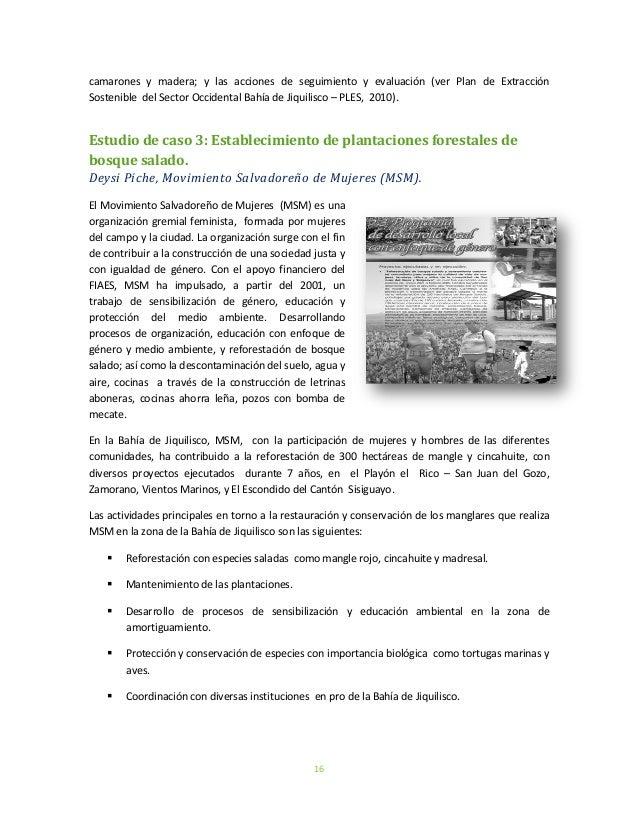 16camarones y madera; y las acciones de seguimiento y evaluación (ver Plan de ExtracciónSostenible del Sector Occidental B...