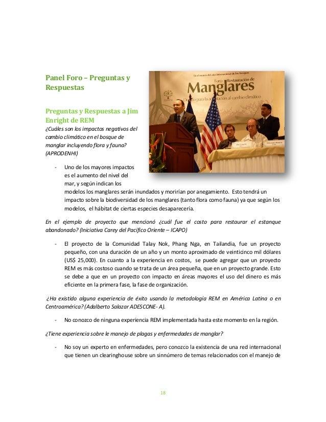 18Panel Foro – Preguntas yRespuestasPreguntas y Respuestas a JimEnright de REM¿Cuáles son los impactos negativos delcambio...