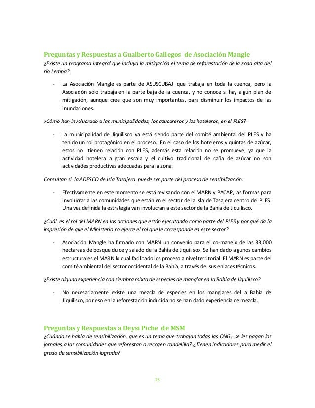 23Preguntas y Respuestas a Gualberto Gallegos de Asociación Mangle¿Existe un programa integral que incluya la mitigación e...