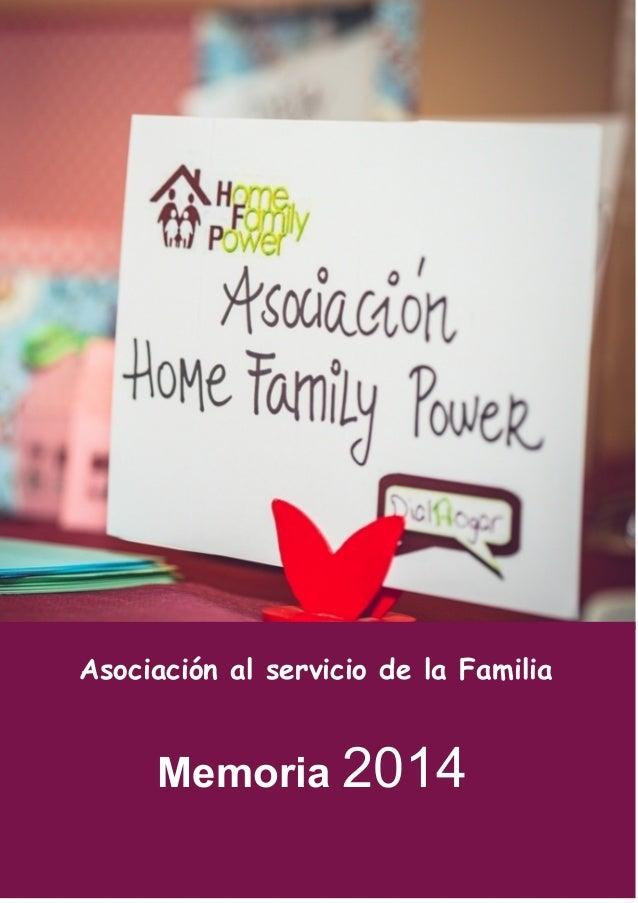 Memoria2014 Asociación al servicio de la Familia