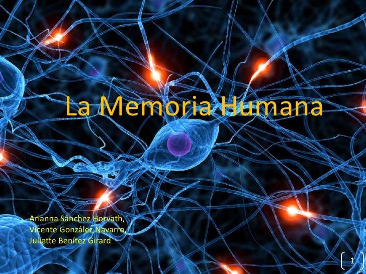 La Memoria HumanaArianna Sánchez Horvath,Vicente González Navarro,Juliette Benítez Girard                             1