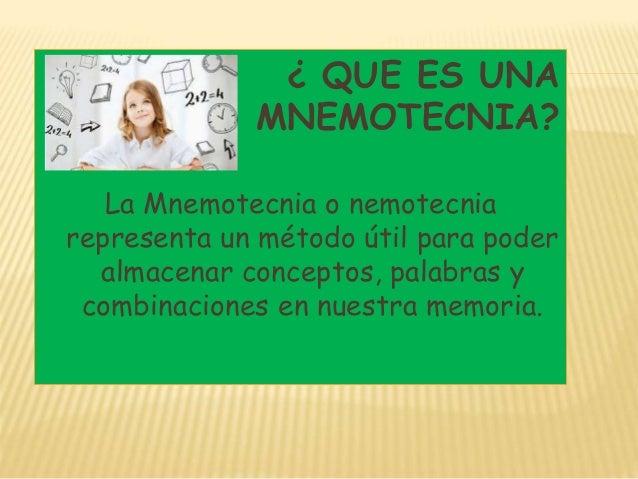 Memoria i 2 criterios de mnemotecnias urtaz Gallery