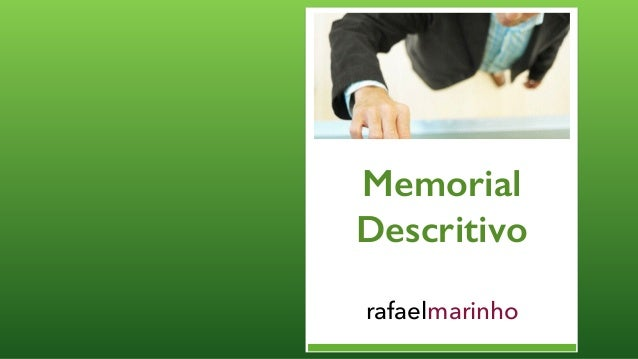 Memorial Descritivo rafaelmarinho