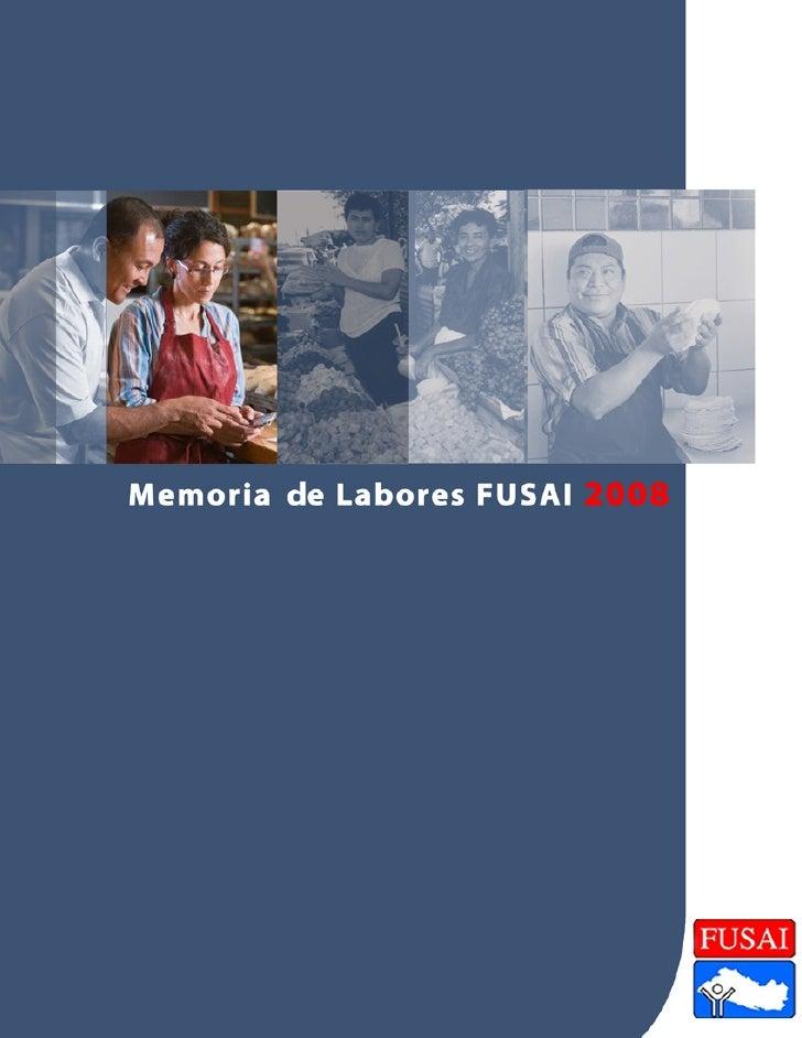 Mensaje del Presidente del Consejo de                                                 Administración de FUSAI, correspondi...
