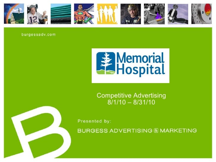 Competitive Advertising 8/1/10 – 8/31/10