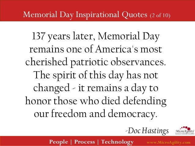 Day To Day Inspirational Quotes: Memorial Day Inspirational Quotes