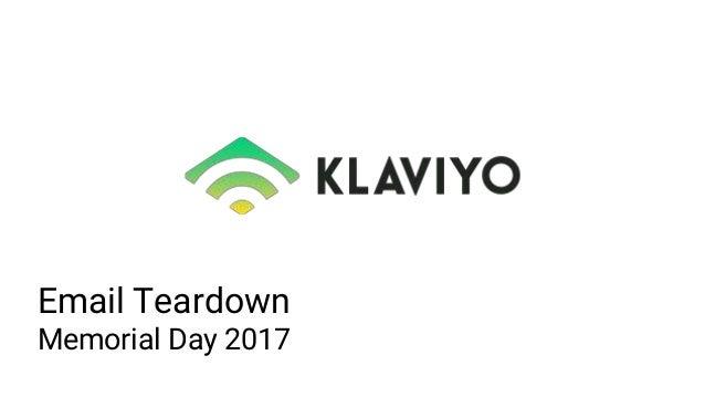 Email Teardown Memorial Day 2017