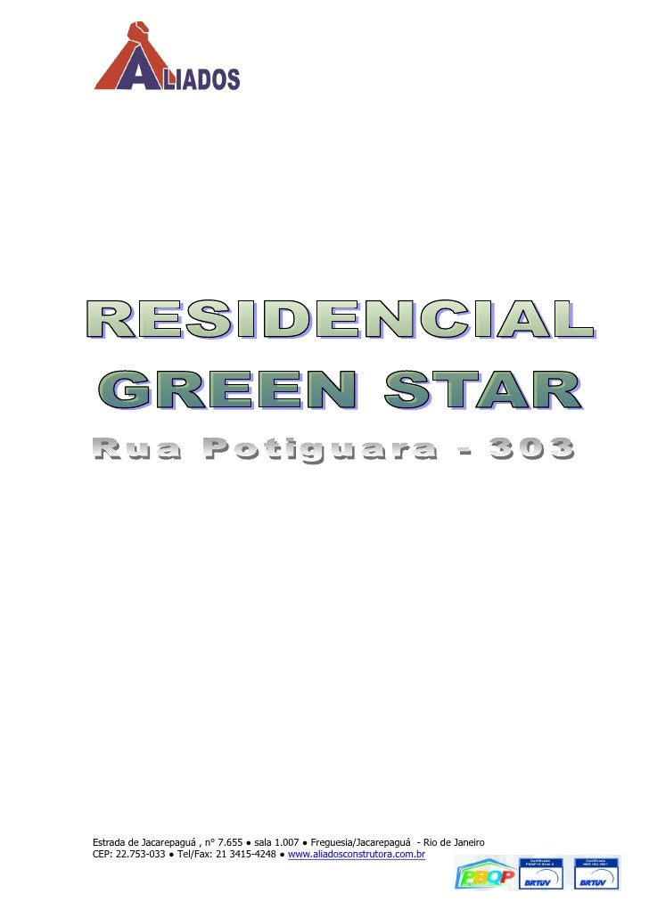 Estrada de Jacarepaguá , n° 7.655 ● sala 1.007 ● Freguesia/Jacarepaguá - Rio de JaneiroCEP: 22.753-033 ● Tel/Fax: 21 3415-...