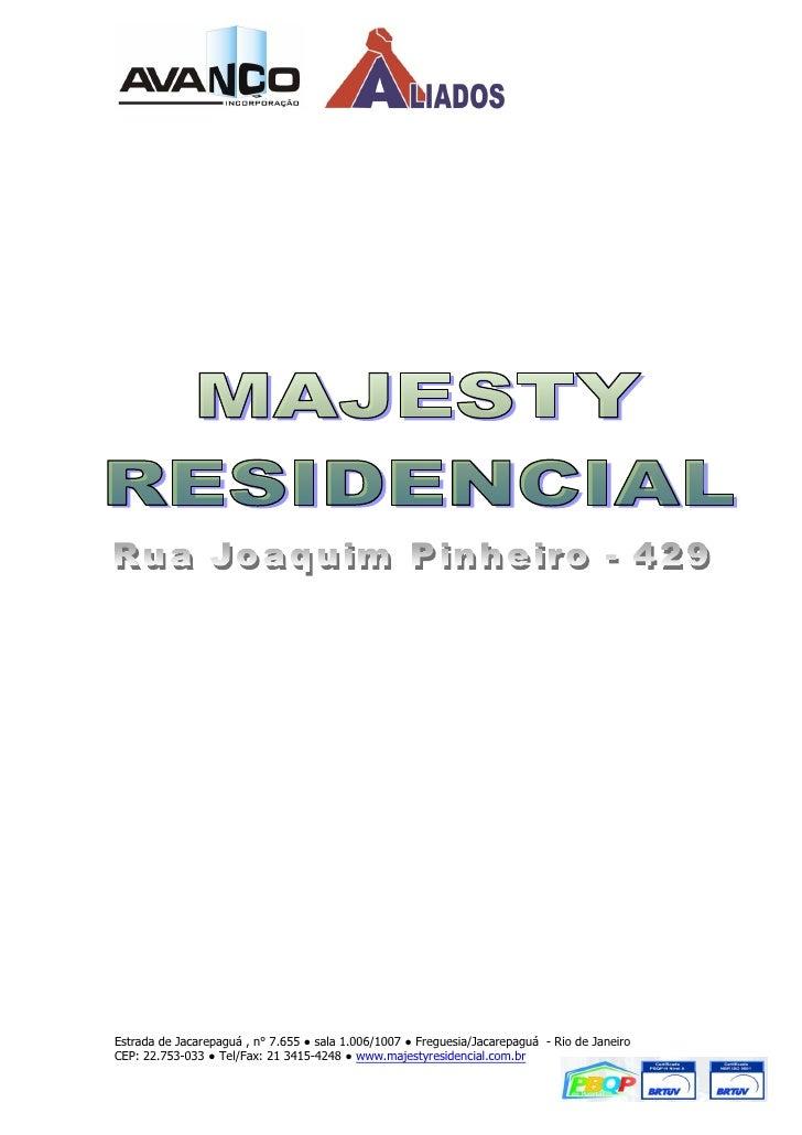 Estrada de Jacarepaguá , n° 7.655 ● sala 1.006/1007 ● Freguesia/Jacarepaguá - Rio de JaneiroCEP: 22.753-033 ● Tel/Fax: 21 ...