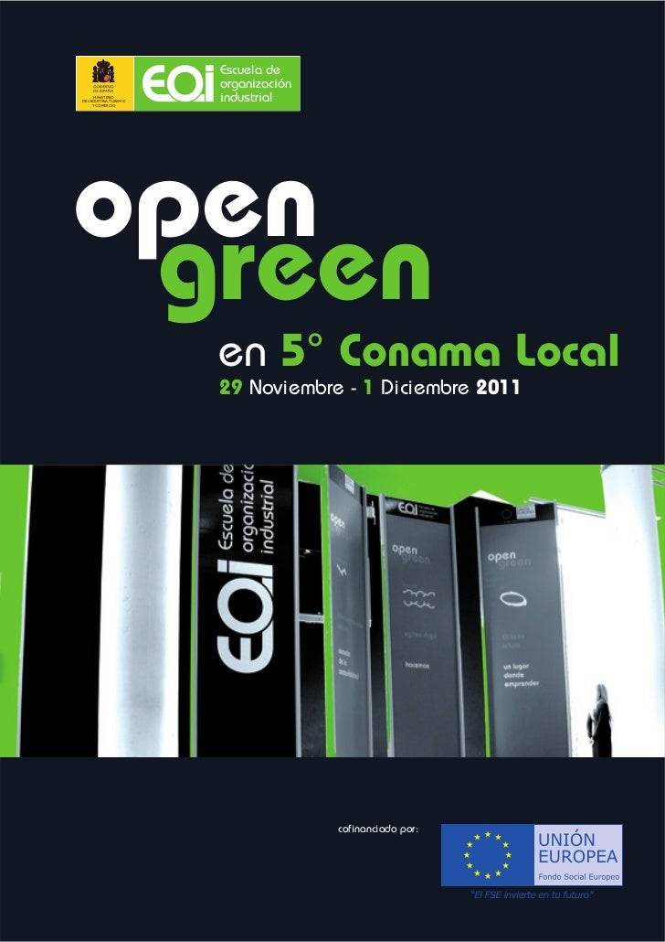 Memoria open green conama local - Facultad de comercio y turismo ucm ...