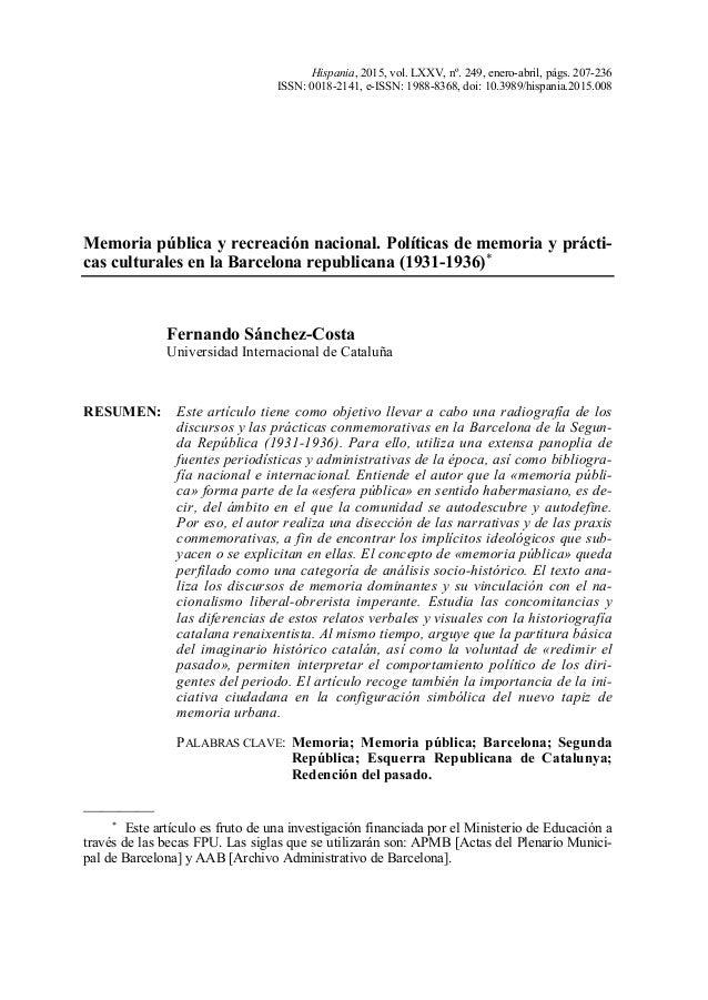 Hispania, 2015, vol. LXXV, nº. 249, enero-abril, págs. 207-236 ISSN: 0018-2141, e-ISSN: 1988-8368, doi: 10.3989/hispania.2...