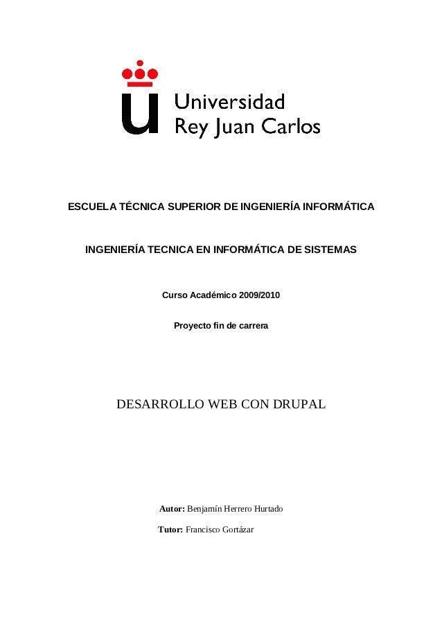 ESCUELA TÉCNICA SUPERIOR DE INGENIERÍA INFORMÁTICA  INGENIERÍA TECNICA EN INFORMÁTICA DE SISTEMAS               Curso Acad...