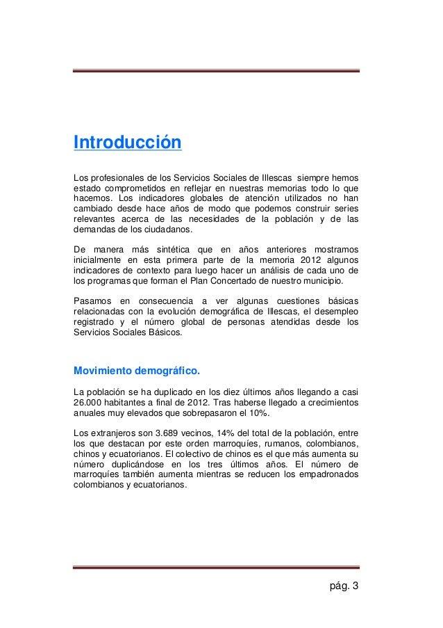Memoria PLIS ILLESCAS 2012- Plan Local de Integración Social  Slide 3