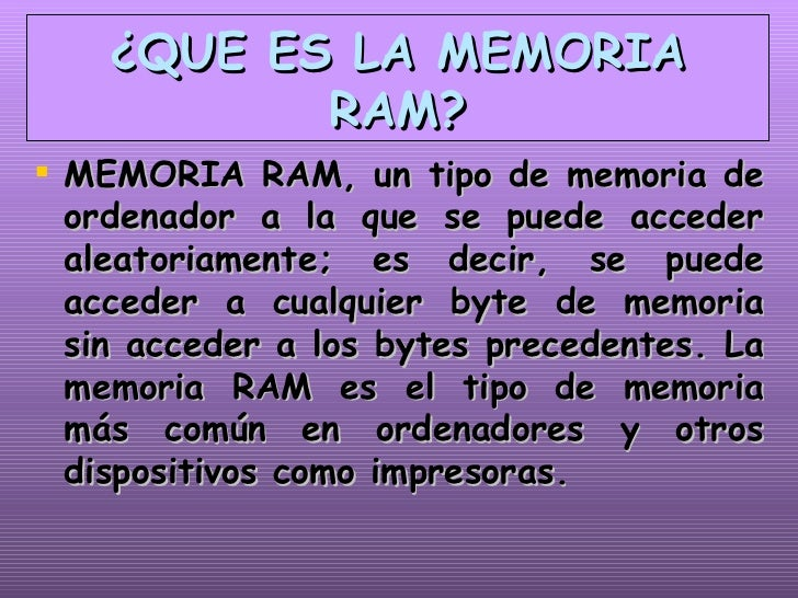 Memorias >> Memoria Ram Y Rom