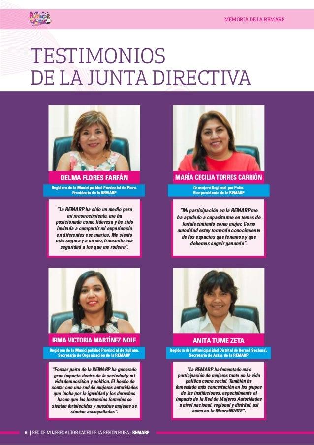 Memoria Red Mujeres Autoridades-Region Piura-2017-2018 4ac60af13ac