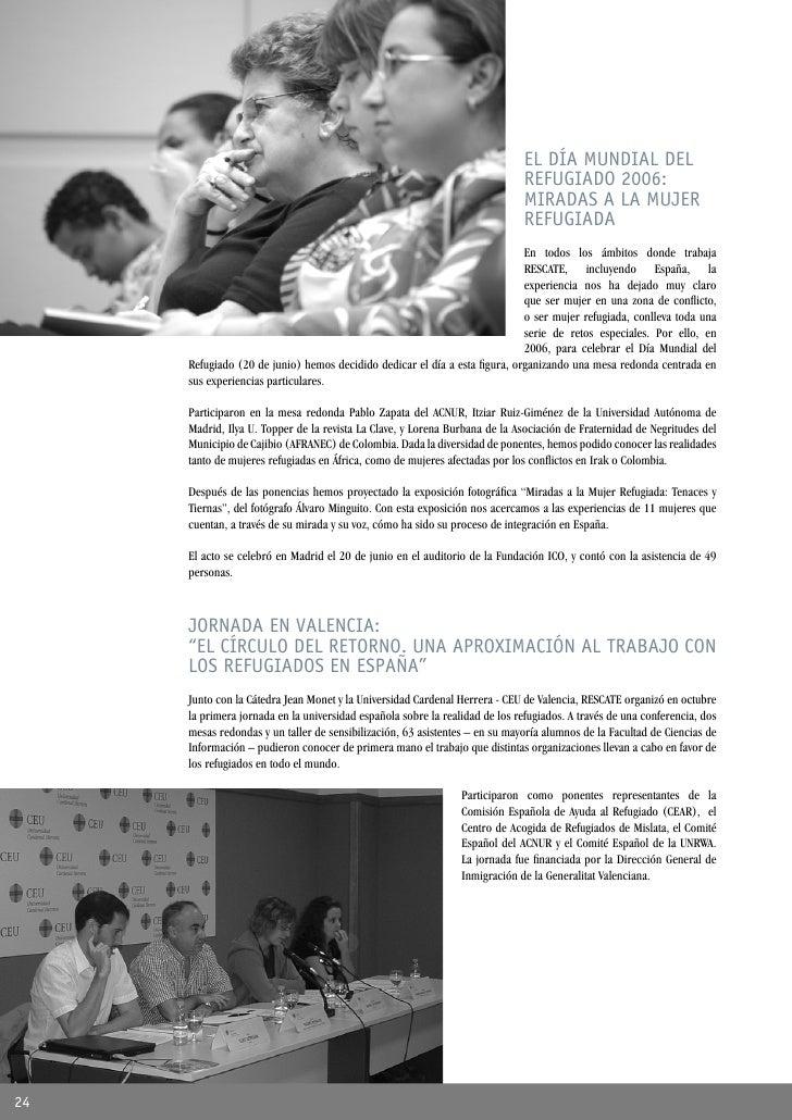 EL DÍA MUNDIAL DEL                                                                               REFUGIADO 2006:          ...