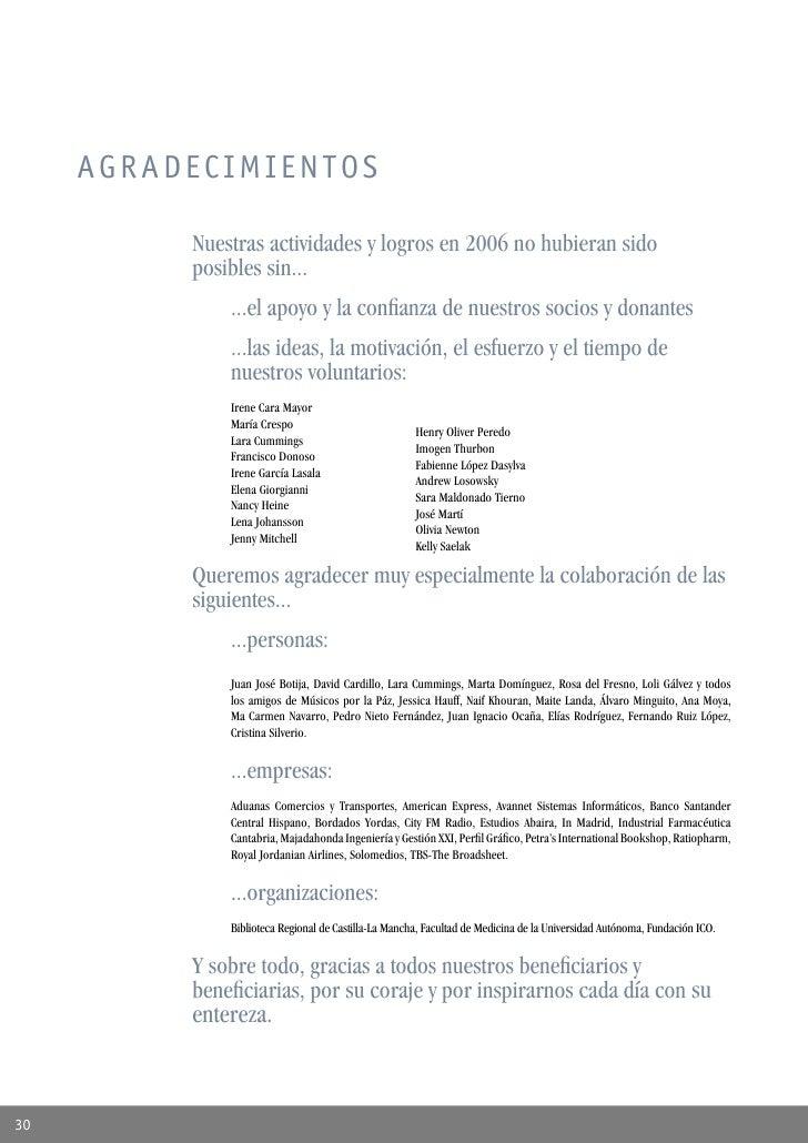 Memoria RESCATE 2006 - español