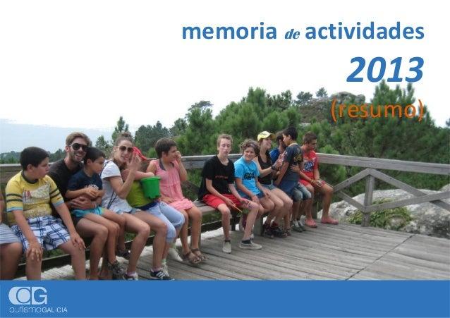 memoria de actividades 2013 (resumo)