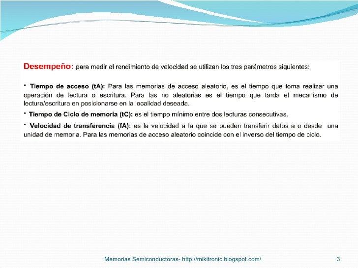 Memorias semiconductoras Slide 3