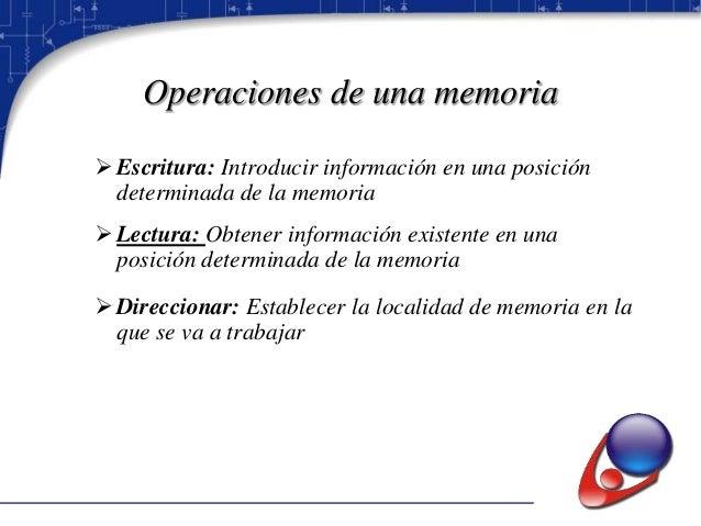 Capacidad de una memoria  Capacidad de Memoria = Ancho de Bus de datos x Espacio de Direccionamiento.
