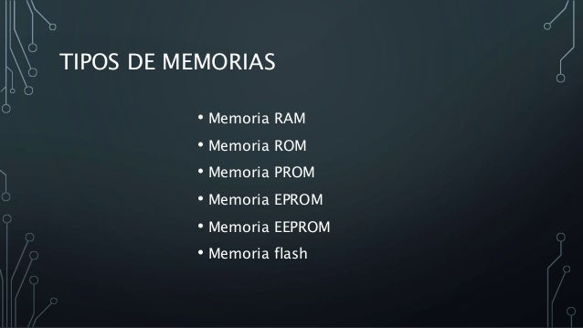Tipos De Memorias En Informatica