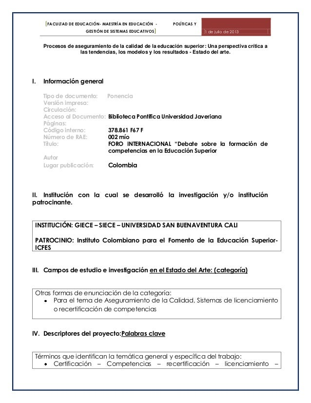 [FACULTAD DE EDUCACIÓN- MAESTRÍA EN EDUCACIÓN - POLÍTICAS Y GESTIÓN DE SISTEMAS EDUCATIVOS] 1 de julio de 2013 Procesos de...
