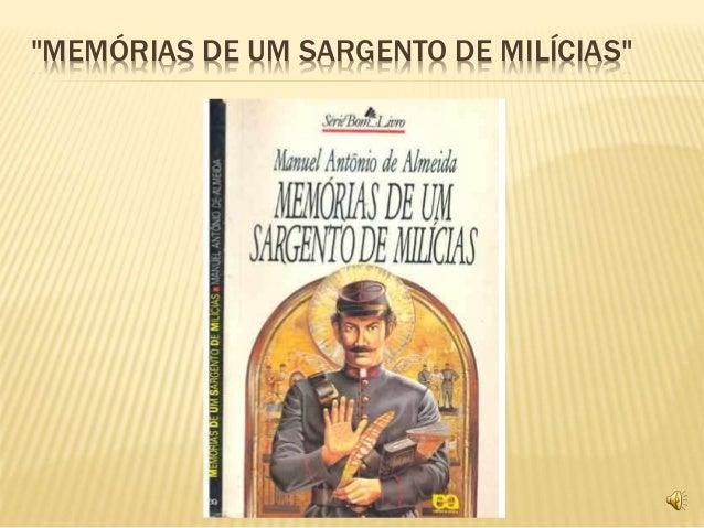 """""""MEMÓRIAS DE UM SARGENTO DE MILÍCIAS"""""""
