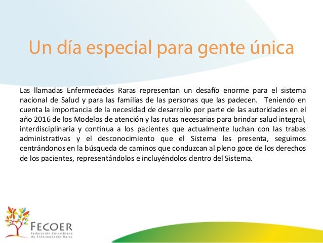 Enfermedades Raras DIA MUNDIAL DE ENFERME...