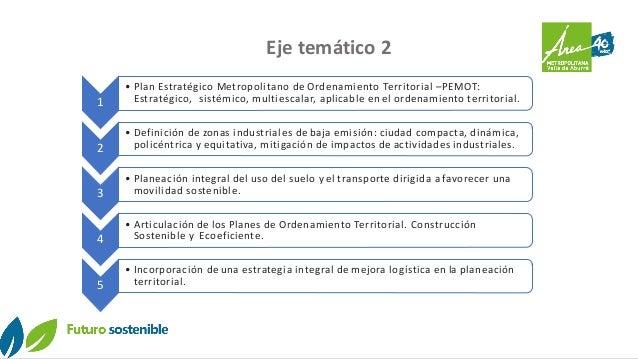 Eje temático 2 1 • Plan Estratégico Metropolitano de Ordenamiento Territorial –PEMOT: Estratégico, sistémico, multiescalar...