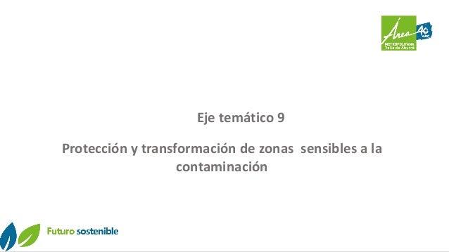 Eje temático 9 Protección y transformación de zonas sensibles a la contaminación
