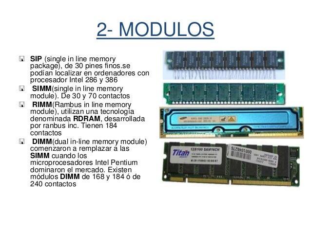 Memorias Ram Y Rom 1