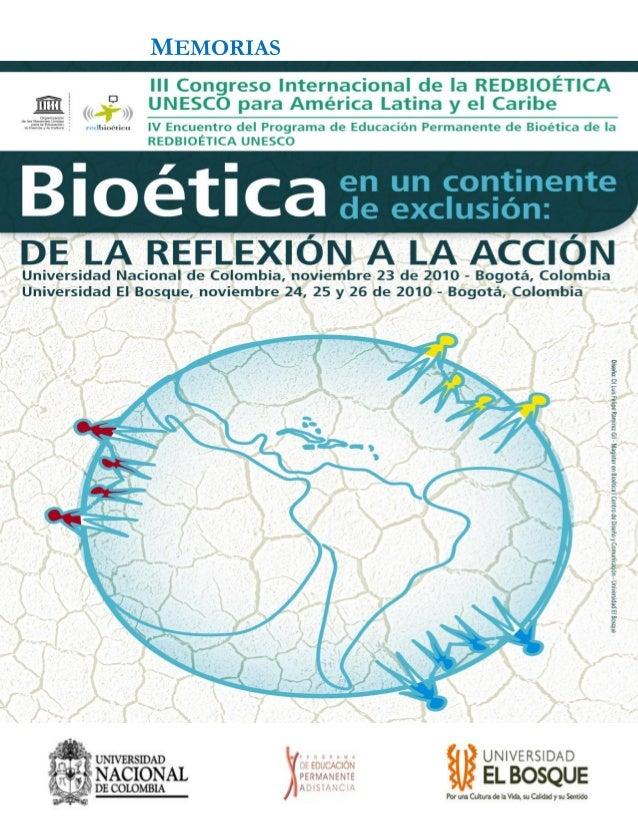 Memorias de la mesa sobre Bioética ClínicaMEMORIAS