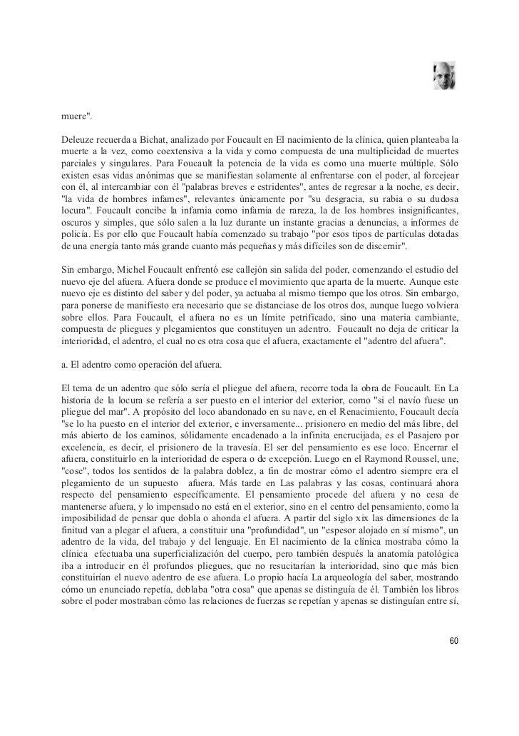 Michel Foucault, poder saber y constitucion sujeto moderno