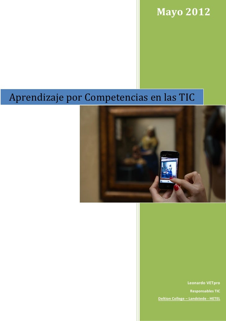 Mayo 2012Aprendizaje por Competencias en las TIC                                               Leonardo VETpro            ...