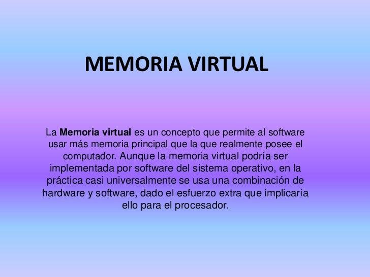 Memoria virtual for Que es una pagina virtual