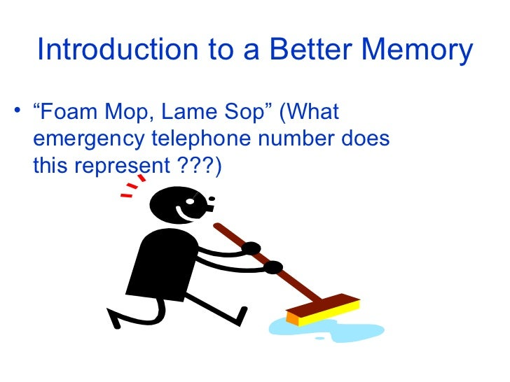 Memorization techniques to improve your life Slide 2