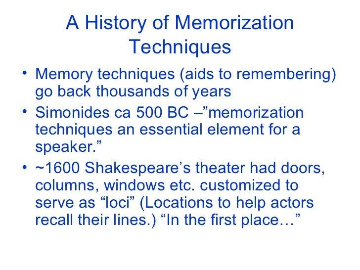 Memorization techniques to improve your life Slide 3