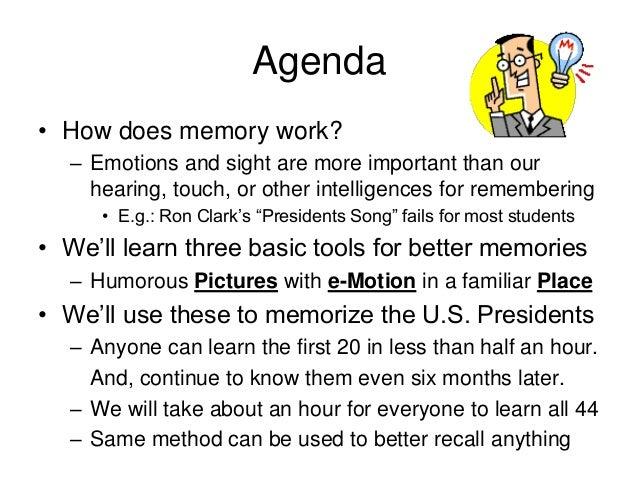Memorizing The Presidents