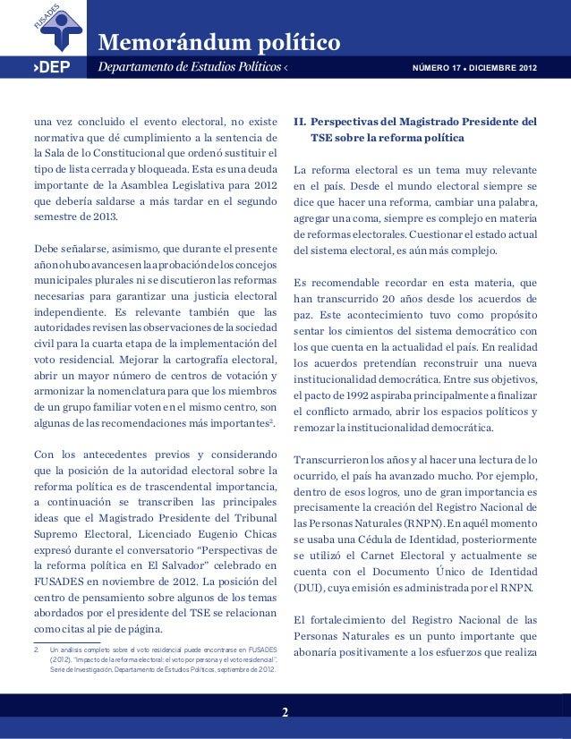 c88cd91731dd Perspectiva de la autoridad electoral sobre la reforma política en El…