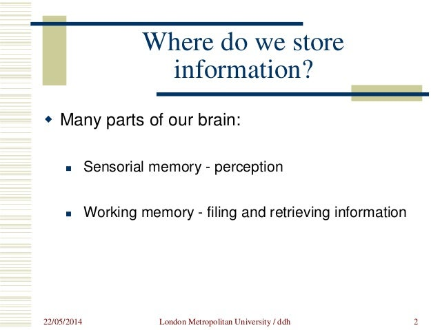 Training for interpreters: how does your memory work?