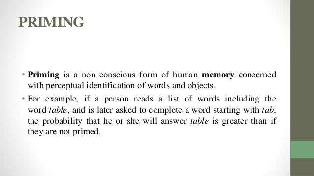 Examples of Implicit Memory  YourDictionary