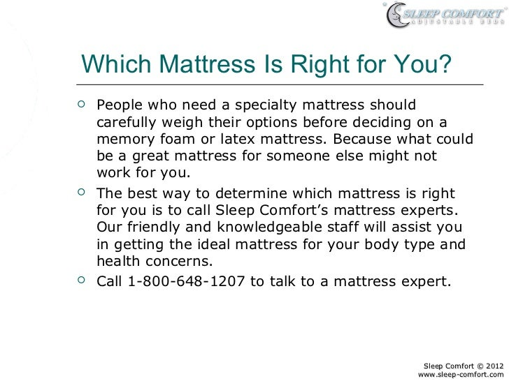 Memory Foam Mattresses Verses Latex Mattresses