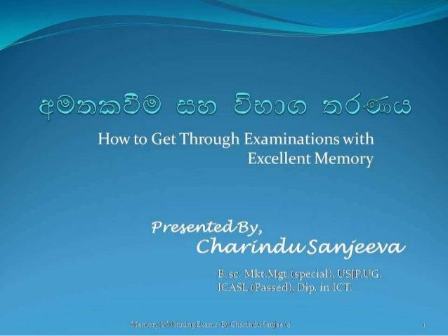 Memory &-getting-through-exams
