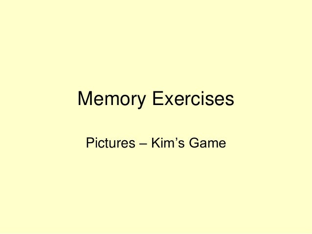 Memory Exercises Pictures – Kim's Game