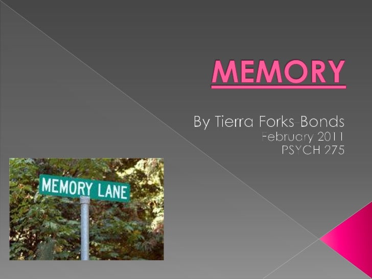 MEMORY<br />By Tierra Forks-Bonds<br />February 2011<br />PSYCH 275<br />