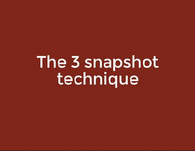 The3snapshot technique