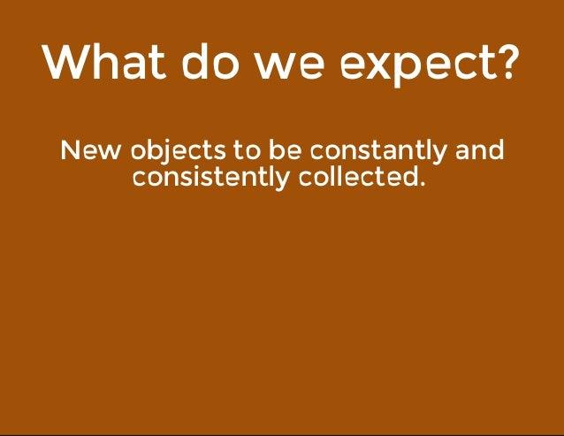 Whatdoweexpect? Newobjectstobeconstantlyand consistentlycollected.
